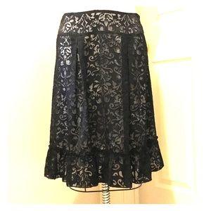 Apostrophe side 10 burnout skirt